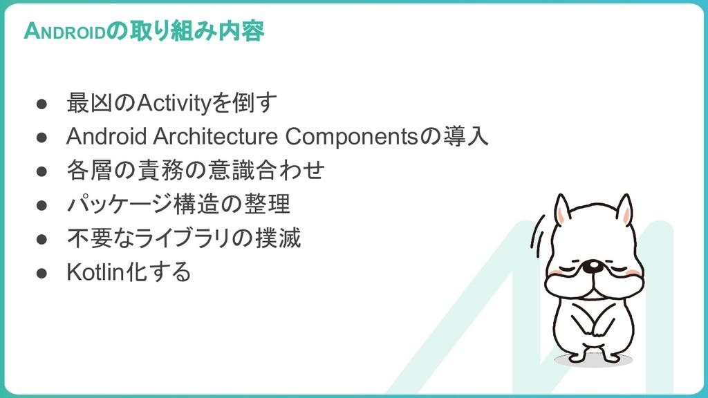99 ● 最凶のActivityを倒す ● Android Architecture Comp...