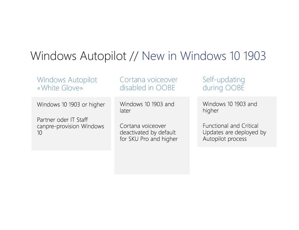 Windows Autopilot // New in Windows 10 1903 Win...