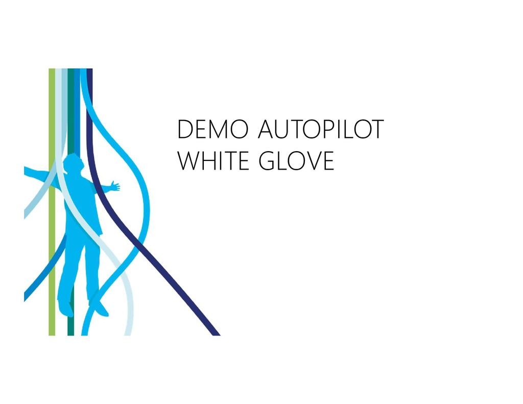 DEMO AUTOPILOT WHITE GLOVE