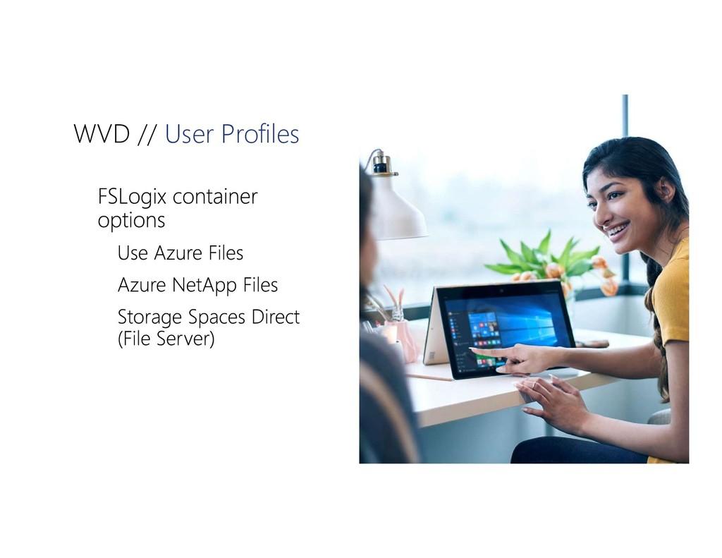WVD // User Profiles    