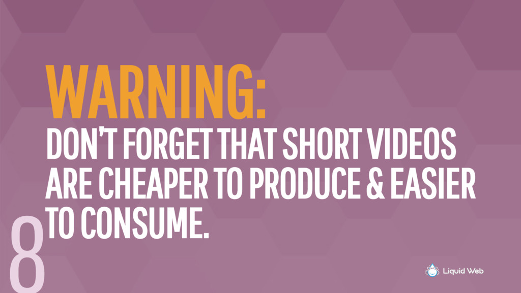 WARNING: DON'T FORGET THAT SHORT VIDEOS ARE CHE...