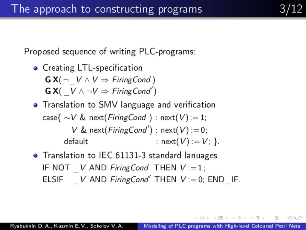 The approach to constructing programs 3/12 Prop...