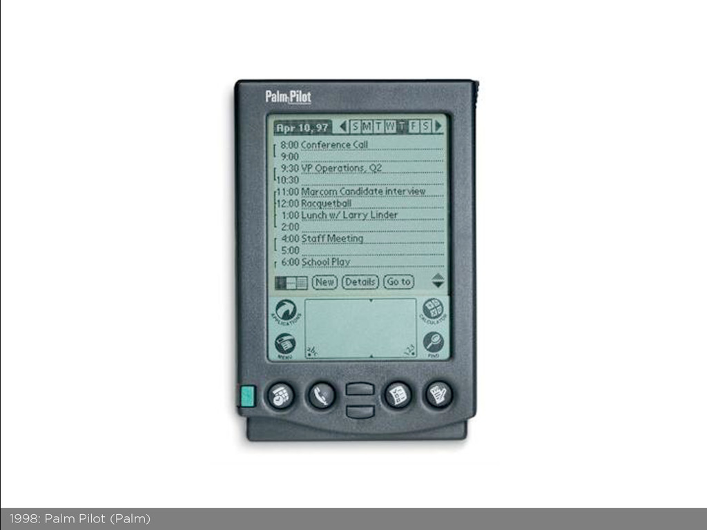 1998: Palm Pilot (Palm)