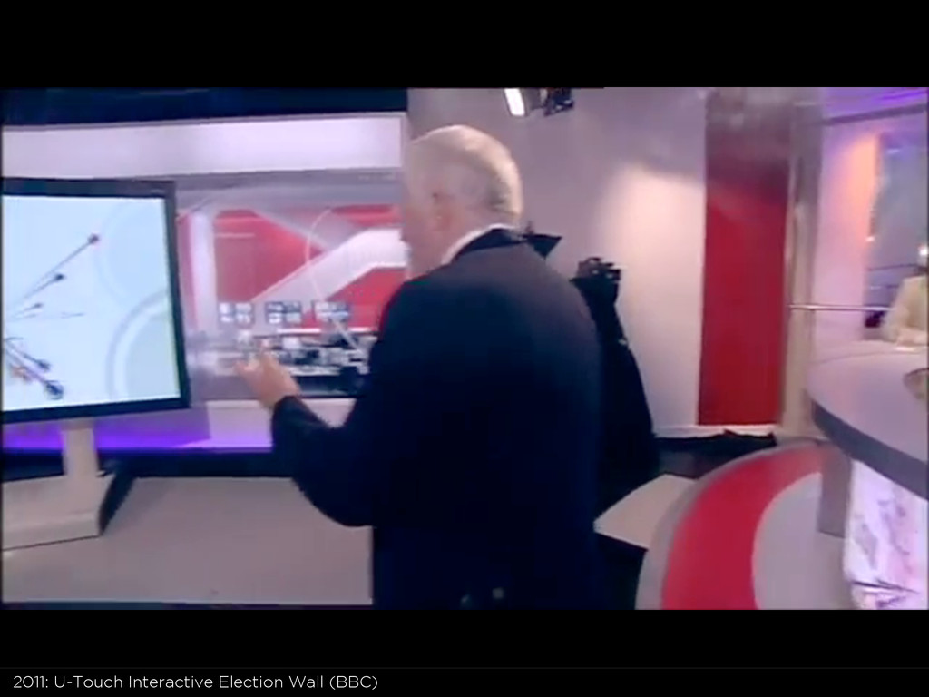 2011: U-Touch Interactive Election Wall (BBC)