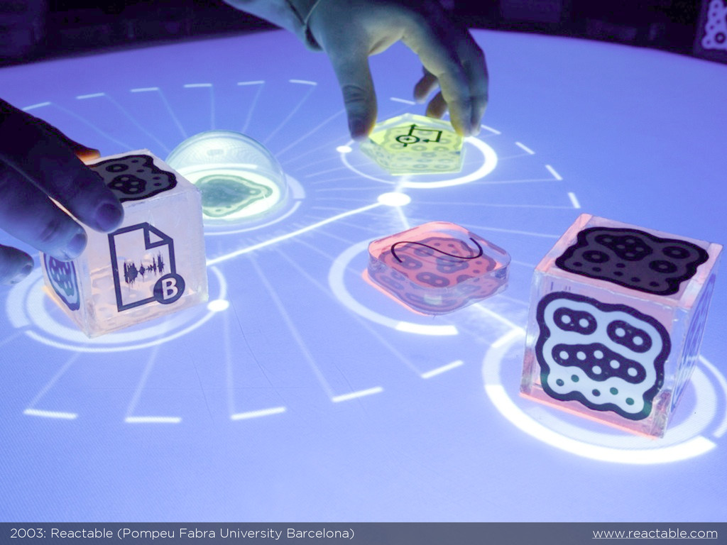 2003: Reactable (Pompeu Fabra University Barcel...