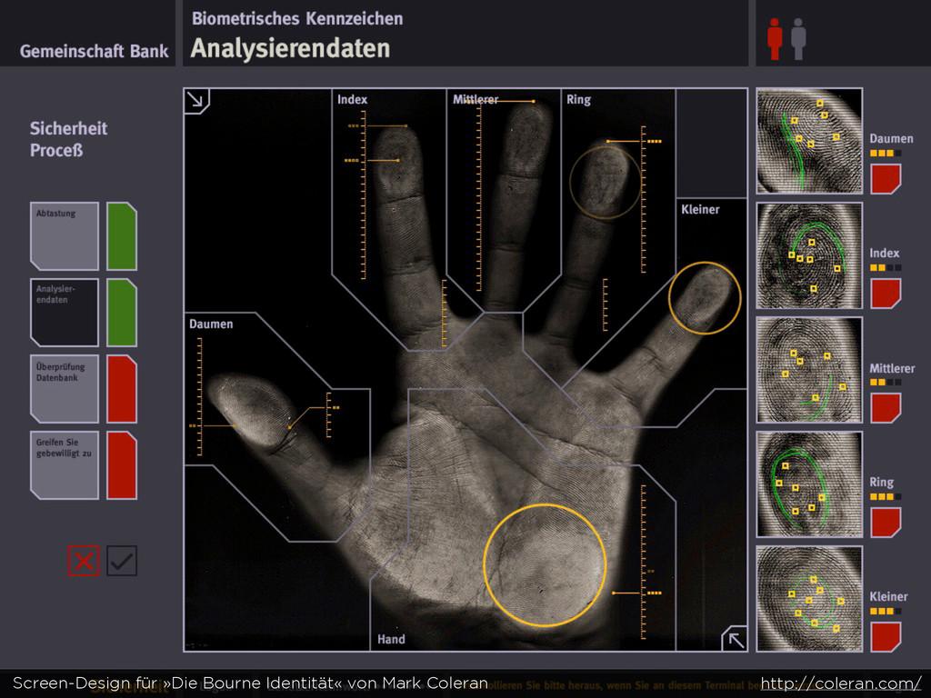 Screen-Design für »Die Bourne Identität« von Ma...