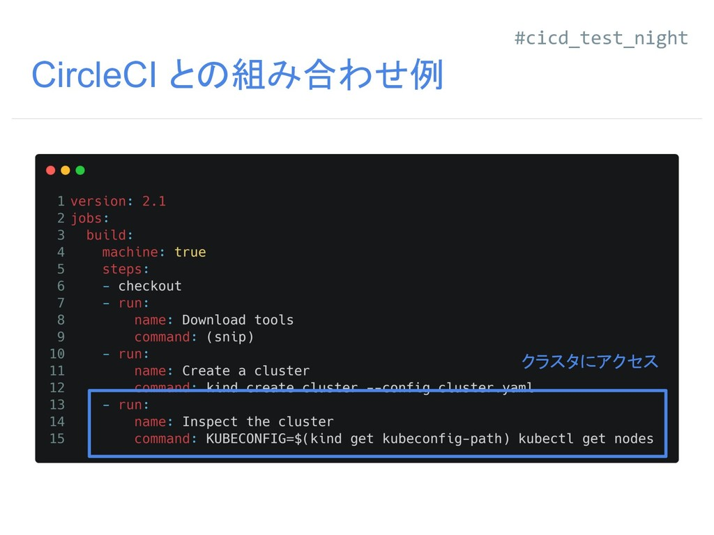 CircleCI との組み合わせ例 クラスタにアクセス #cicd_test_night
