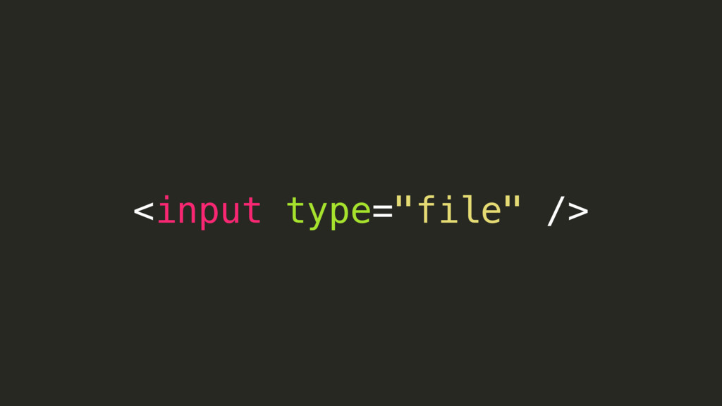 "<input type=""file"" />"