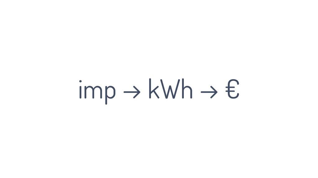 imp → kWh → €