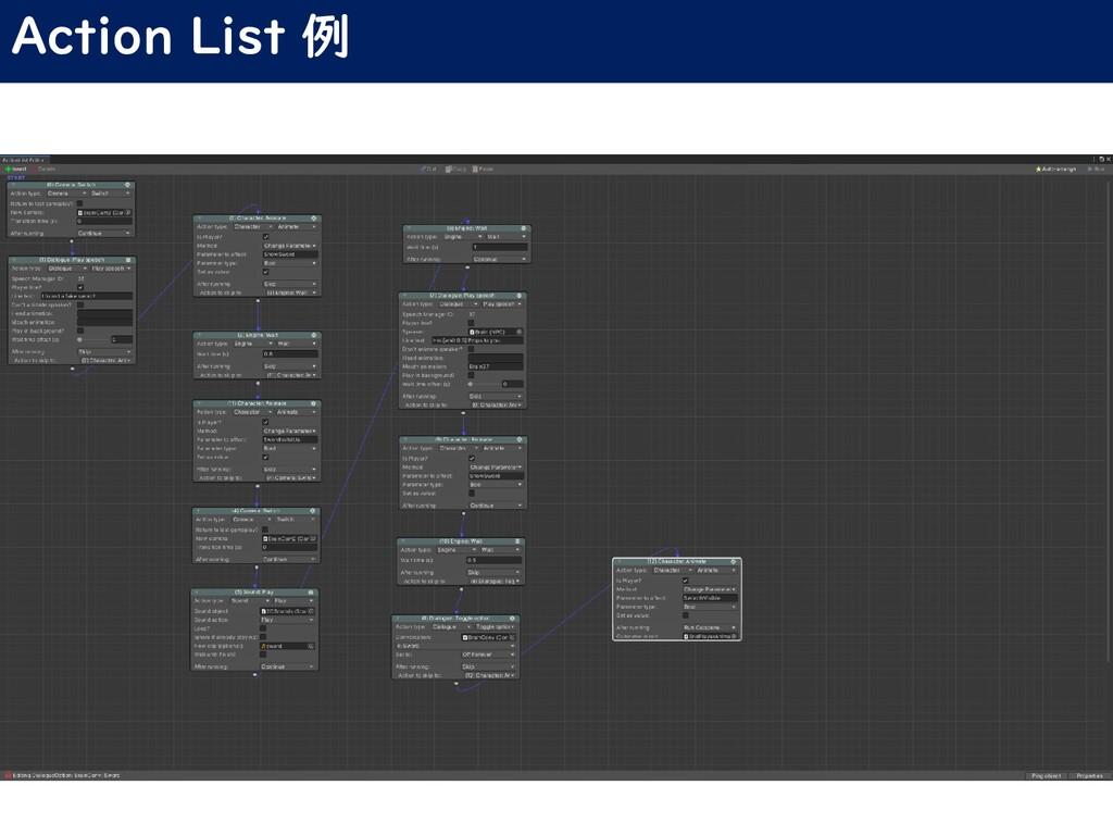 Action List 例