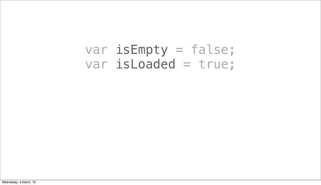 var isEmpty = false; var isLoaded = true; Wedne...