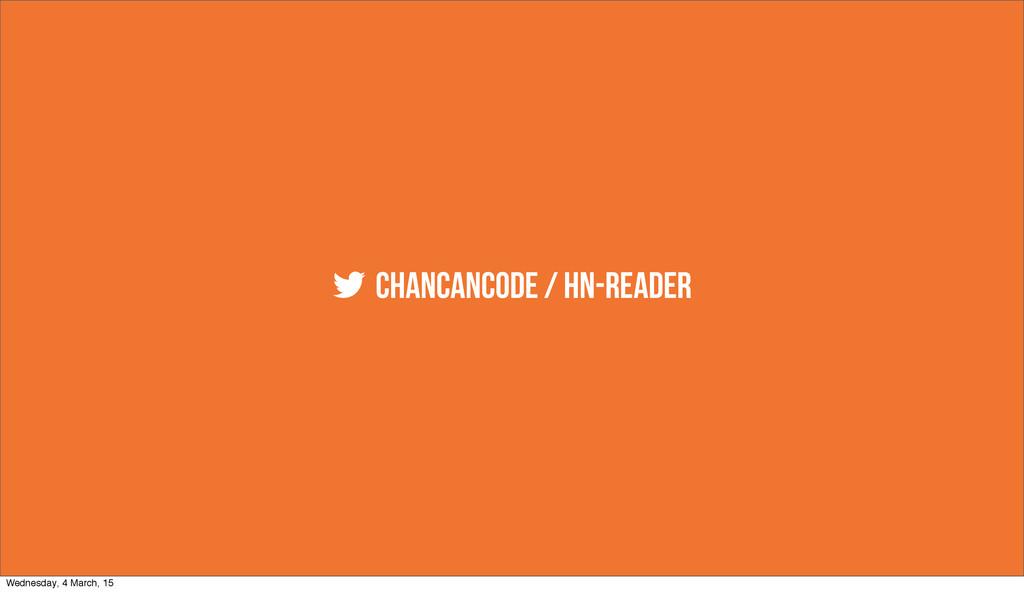  chancancode / hn-reader Wednesday, 4 March, 15