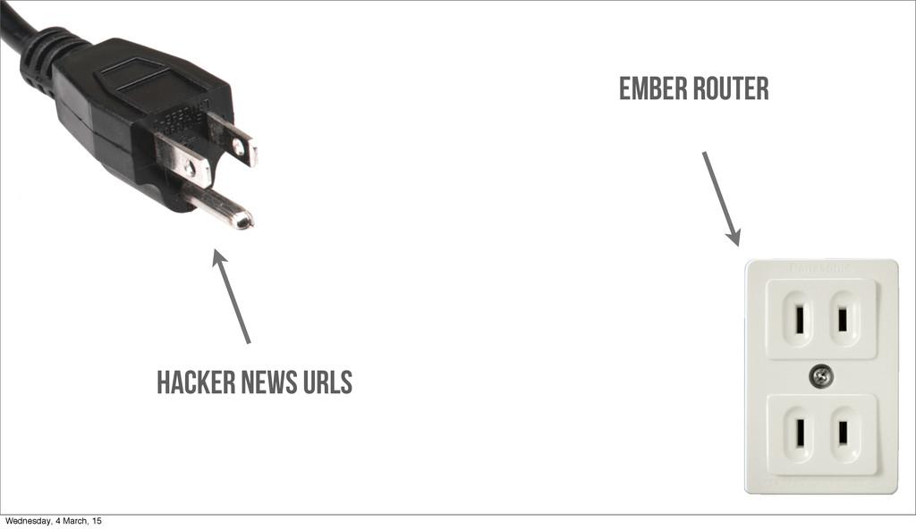 Ember ROUTER HACKER NEWS URLS Wednesday, 4 Marc...