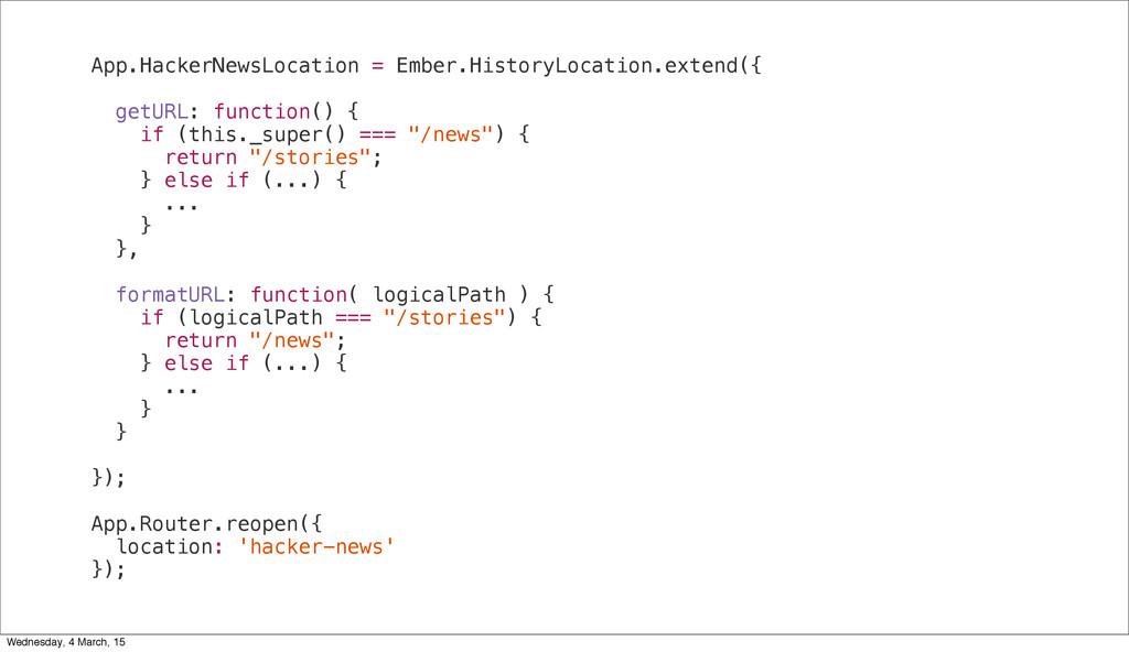 App.HackerNewsLocation = Ember.HistoryLocation....