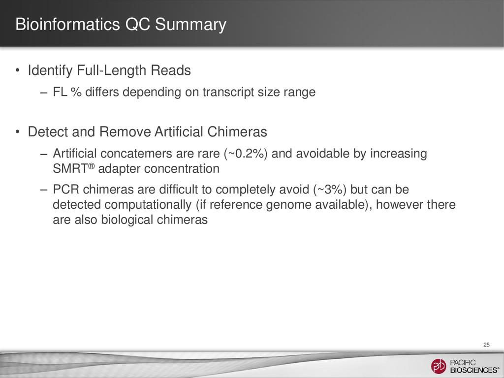 Bioinformatics QC Summary • Identify Full-Lengt...