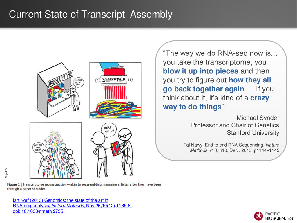 """Current State of Transcript Assembly """"The way w..."""