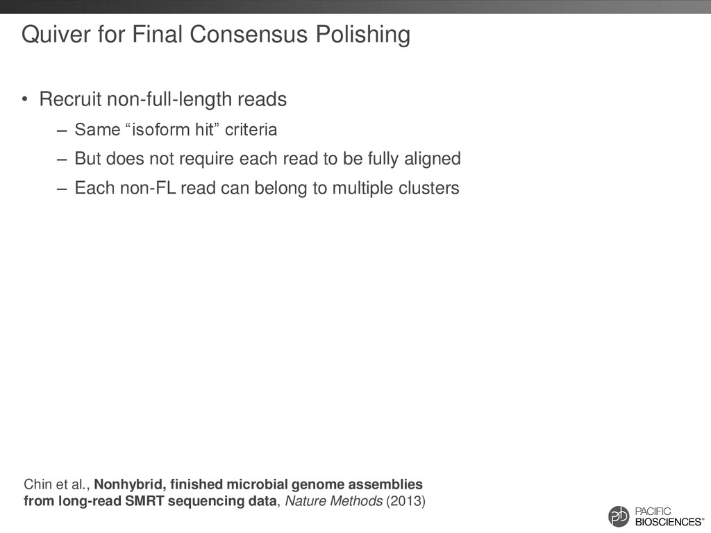 Quiver for Final Consensus Polishing • Recruit ...