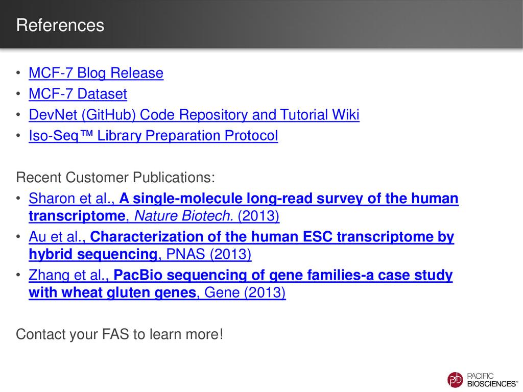 References • MCF-7 Blog Release • MCF-7 Dataset...