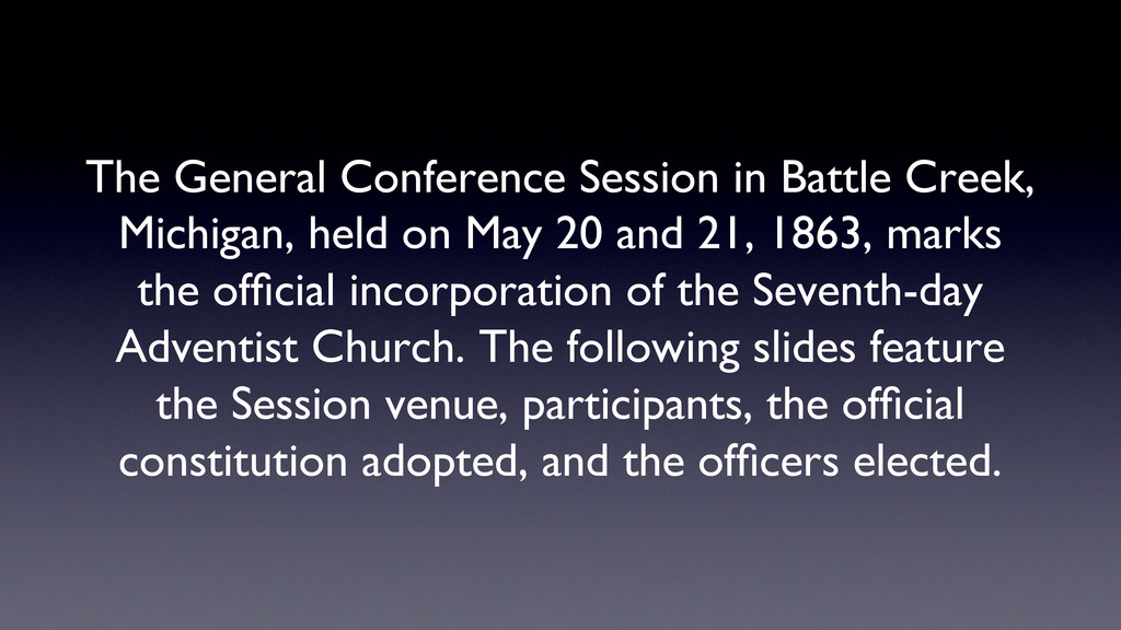 The General Conference Session in Battle Creek,...