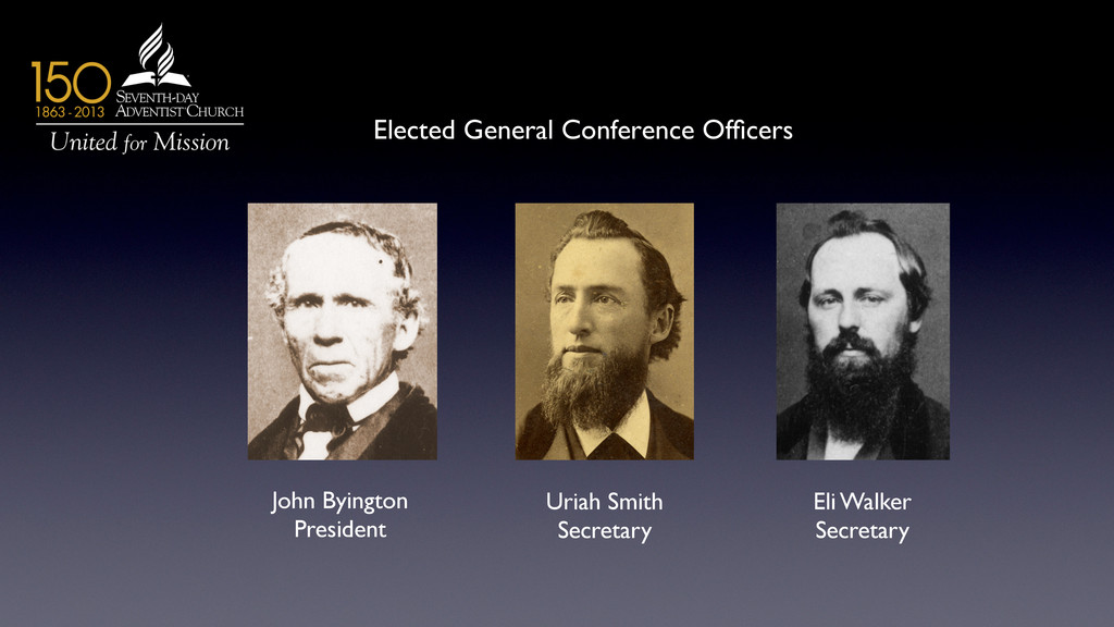 Elected General Conference Officers	 