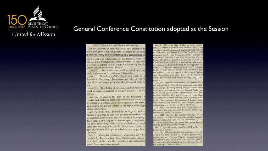 General Conference Constitution adopted at the ...