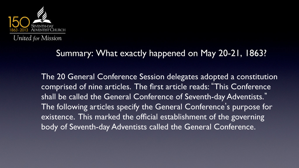 Summary: What exactly happened on May 20-21, 18...