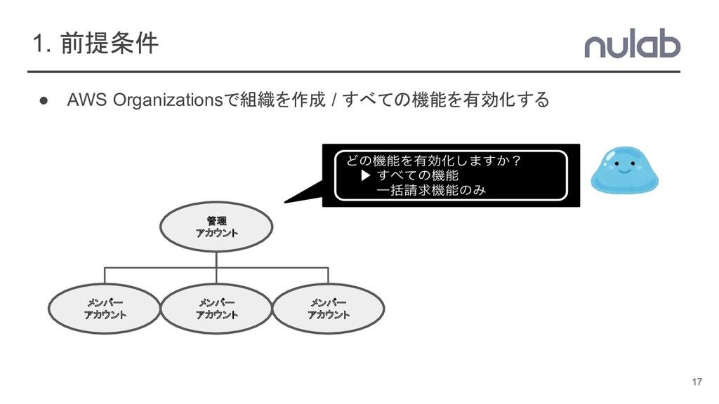 ● AWS Organizationsで組織を作成 / すべての機能を有効化する 1. 前提条...