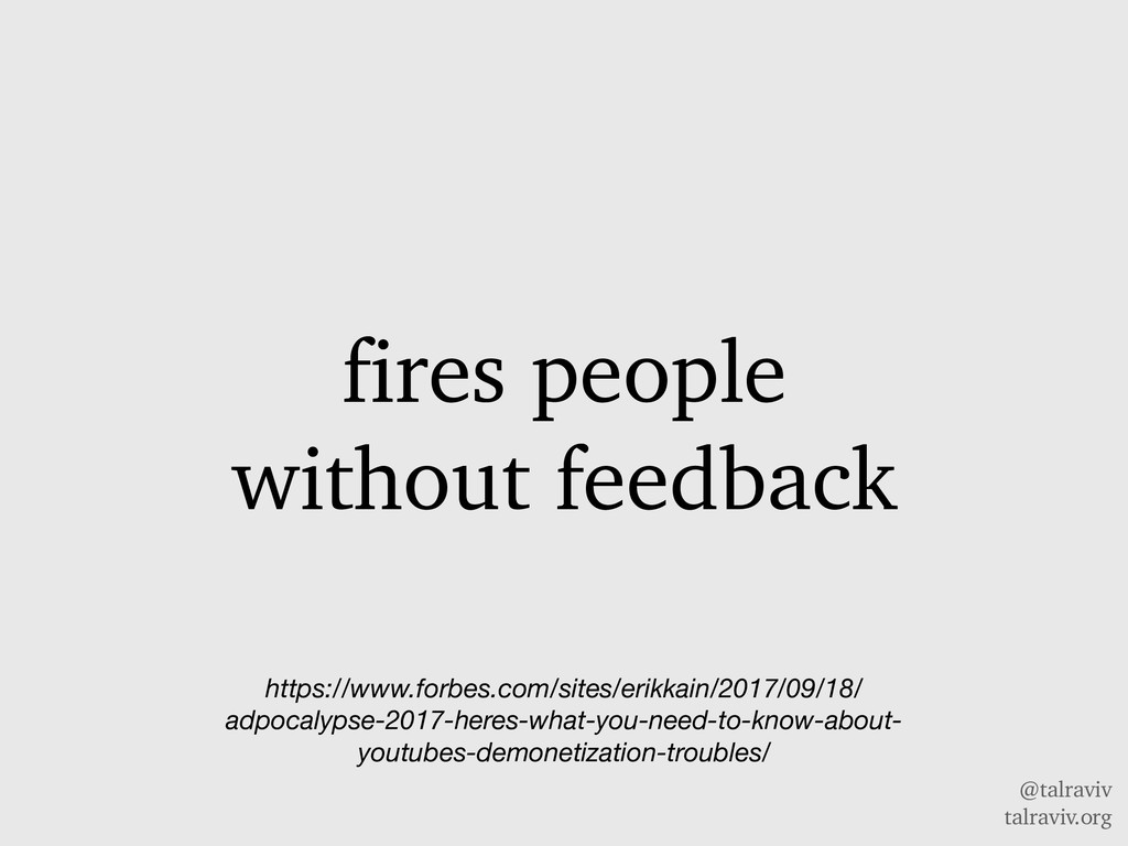@talraviv talraviv.org fires people without fee...