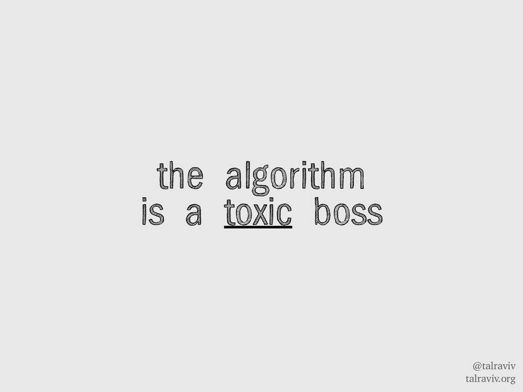 @talraviv talraviv.org the algorithm is a toxic...