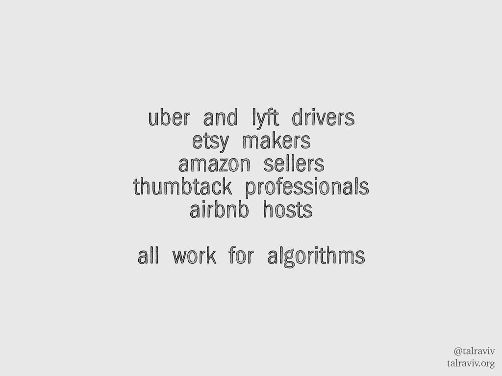 @talraviv talraviv.org uber and lyft drivers et...