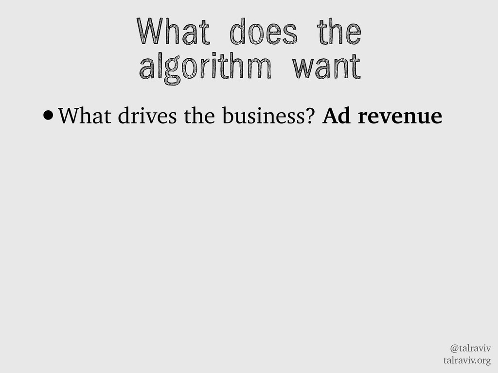 @talraviv talraviv.org What does the algorithm ...