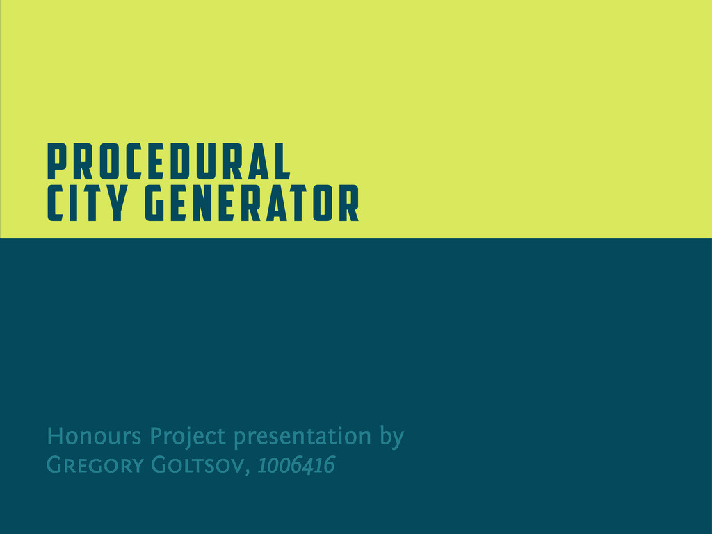 Honours Project presentation by Gregory Goltsov...