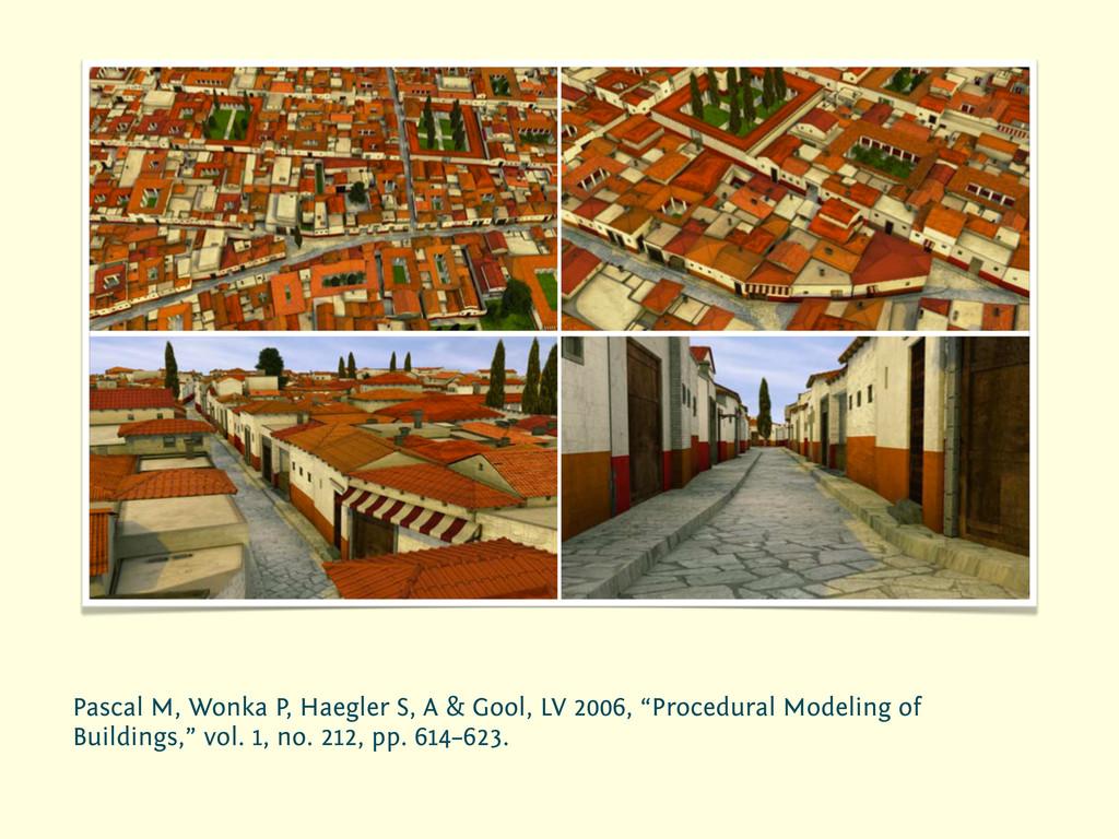 Pascal M, Wonka P, Haegler S, A & Gool, LV 2006...