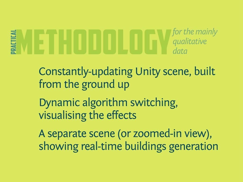 methodology Constantly-updating Unity scene, bu...