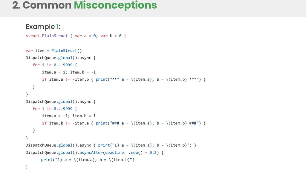 2. Common Misconceptions Example 1: struct Plai...