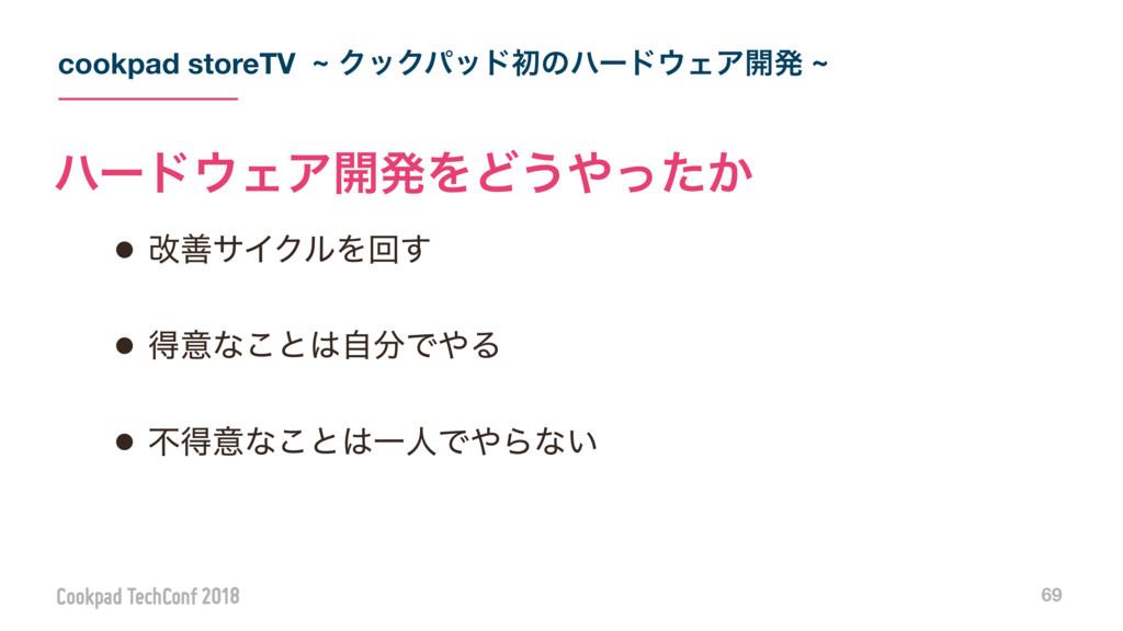 cookpad storeTV ~ ΫοΫύουॳͷϋʔυΣΞ։ൃ ~ 69 • վળαΠΫ...