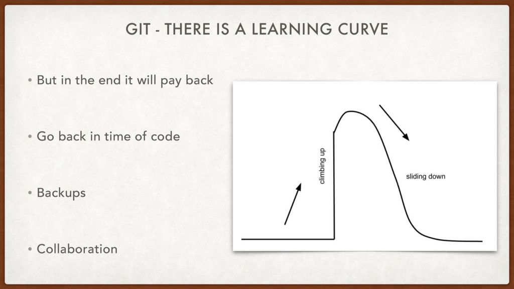 GIT - THERE IS A LEARNING CURVE • But in the en...