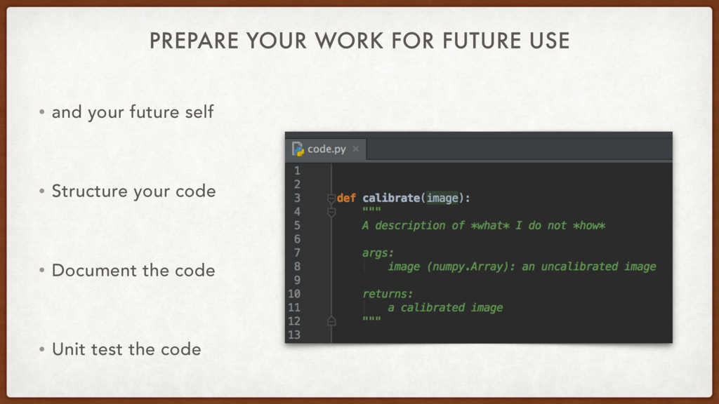 PREPARE YOUR WORK FOR FUTURE USE • and your fut...