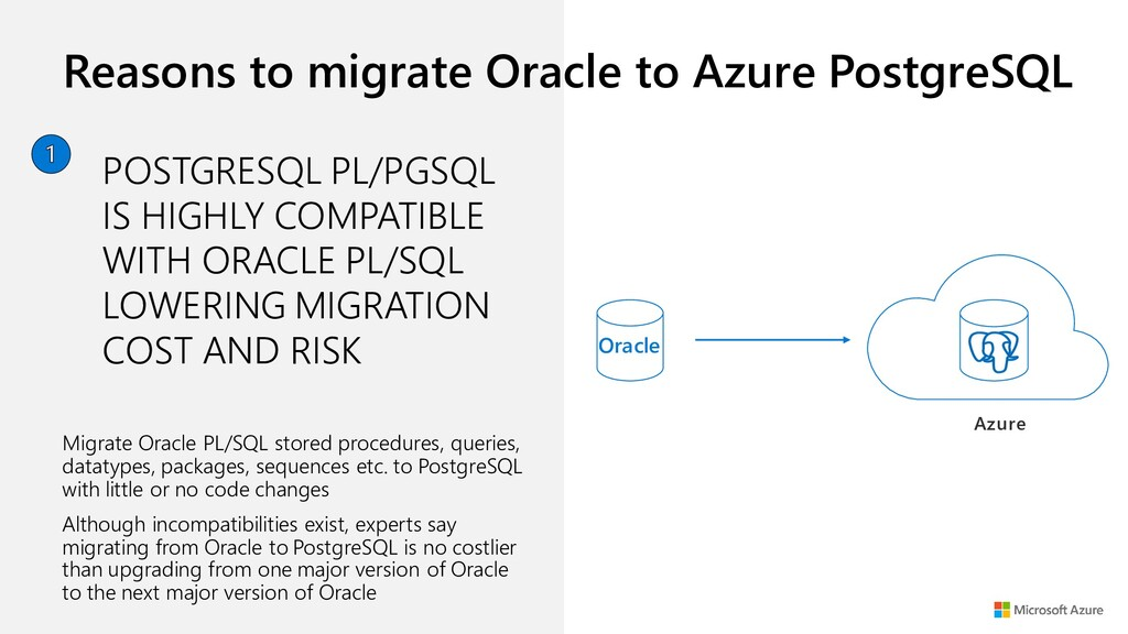 Reasons to migrate Oracle to Azure PostgreSQL M...
