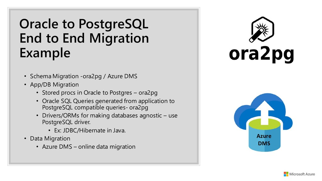 Oracle to PostgreSQL End to End Migration Examp...