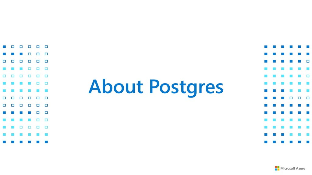 About Postgres