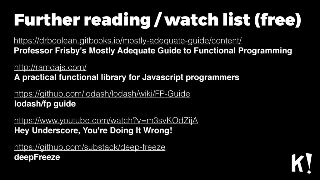Further reading / watch list (free) https://drb...