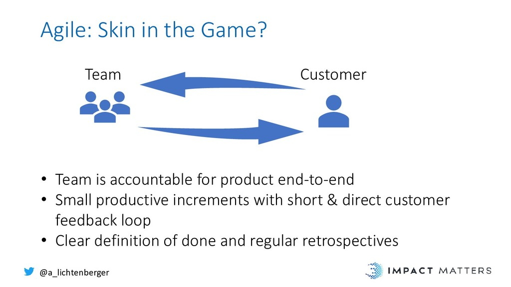 Agile: Skin in the Game? @a_lichtenberger • Tea...
