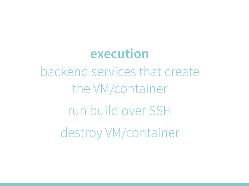 execution backend services that create the VM/c...