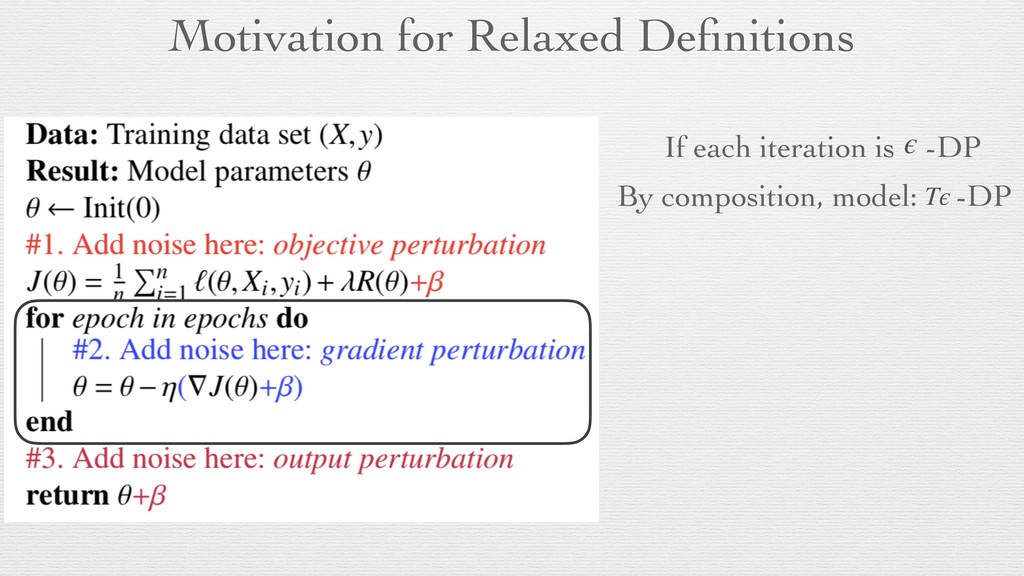 Motivation for Relaxed Definitions If each itera...