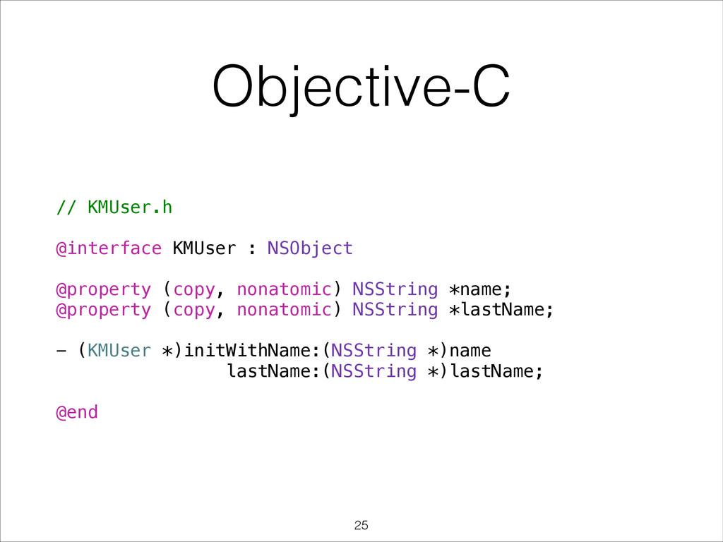 // KMUser.h ! @interface KMUser : NSObject ! @p...