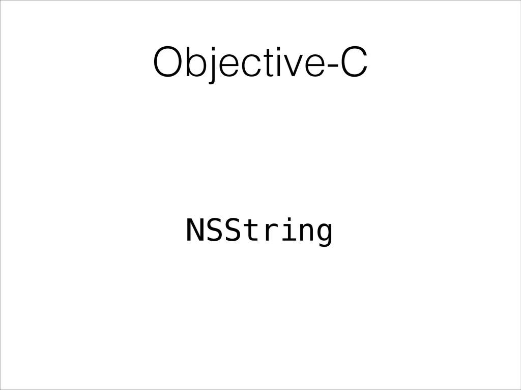 Objective-C NSString