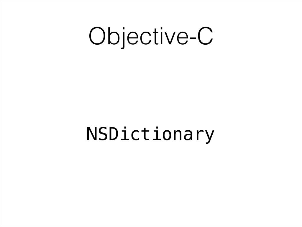Objective-C NSDictionary