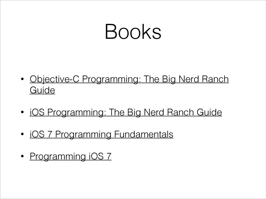 Books • Objective-C Programming: The Big Nerd R...