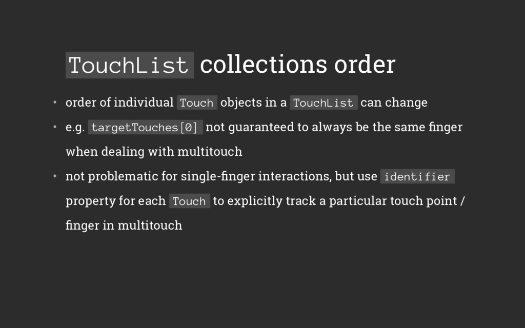 TouchList collections order • order of individ...